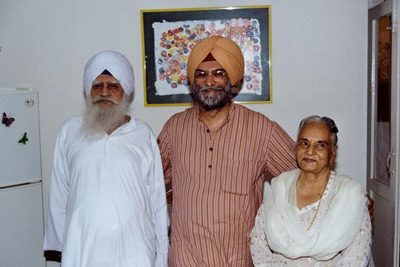 With my parents Giani Gurdit Singh and Mrs Inderjit Kaur