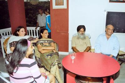 YPS crowd: From right: Sunil Jain, Jaspal Singh, Intu Tina Jain and Riyah Ghuman
