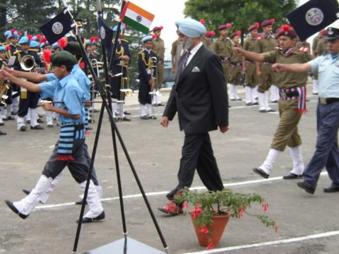 The Chief Guest inspects the Guard of Honour