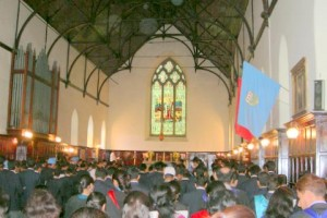 Service in the chapel: an uplifting experience