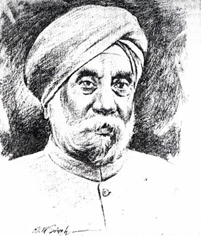 Sardar Hukam Singh, sketch by R M Singh