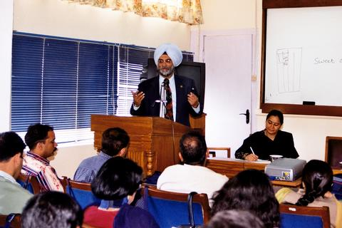 Addressing English language teachers  at Shimla