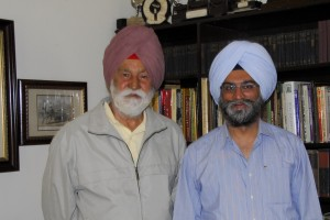 The Marshal of the Indian Air Force and his biographer, Roopinder Singh. A photograph clicked in 2007 with MIAF Arjan Singh DFC