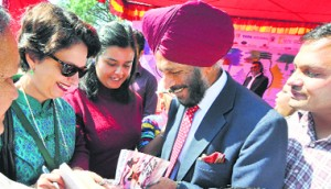 SPRINTER'S SAGA: Ace athlete Milkha Singh's autobiography created a buzz at the Khushwant Singh Literary Festival in Kasauli.