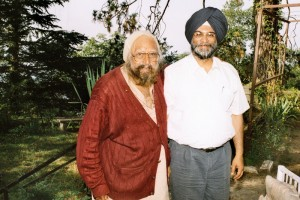 With Khushwat Singh at his home in Kasauli