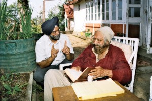 With Khushwant Singh at his Kasauli residence
