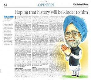 Hoping history will be kinder to Manmohan Singh