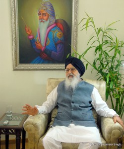 Punjab Chief Minister Parkash Singh Badal PHOTO © ROOPINDER SINGH