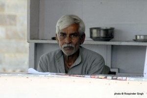 Rohtas poses for me in the dhaba, a photo from 2007.